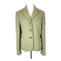 LAUREN Ralph Lauren Size 12 Jacket Blazer Equestrian Soft Green Wool Blend