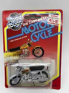 Yat Ming Road Tough Diecast Metal Motorcycle Silver Honda Sealed 1331-4