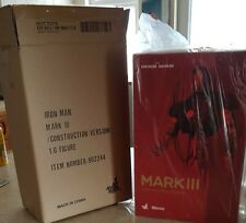 HOT TOYS 1/6 MARVEL IRON MAN DS003 MK3 MARK III CONSTRUCTION VER ACTION FIGURE