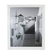 16x20 Wood Picture Frame with Real Glass and 1.25'' Wide White