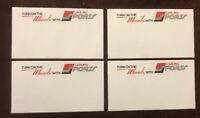 RARE 1974 WFL Lot of 4 Envelopes Detroit Wheels Carling Sports Carling Beer