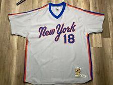 Auth MLB Mitchell & Ness New York Mets #18 Darryl Strawberry Jersey Sz 2XL USA