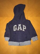 Baby Boys Toddlers Baby Gap Blue Hooded Sweater Hoodie Size 6-12 Months 6-12M
