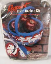 Vtg Ragpoint Cloth Fruit Basket Kit Pioneer Life Craft Homeschool NEW sealed