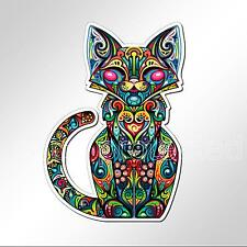 funny car bumper sticker colourful cat kitten sitting 94 x 133 mm vinyl decal