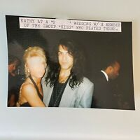 """Kiss Paul Stanley at a Wedding in the 1990s 4"""" x 3.5"""" snapshot"""