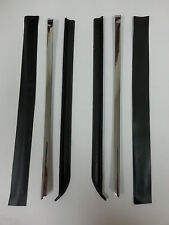 Quarter Window Vertical Chrome with Rubber Seals 6pc 68 - 72 Chevelle GTO 442