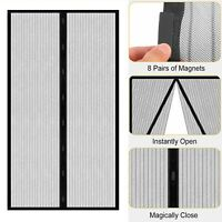 Magnetic Instant Mesh Screen Net Door Hands-Free Anti Mosquito Bug Fly Curtain