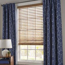 Window Blinds 35 in. x 64 in. Oak 2 Inch Faux Wood Cordless Horizontal Covering