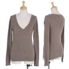 (SALE) agnes b cotton Angola V-neck knit sweater Size 1(K-25083)