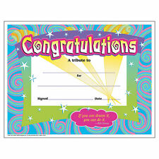 Congratulations Certificates - Stationery - 30 Pieces