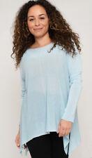 BNWT LV Clothing Italian Sheer Effect Long Sleeved Jumper (Denim) UK Size 16-18