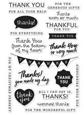 "Brand New Hero Arts  ""Thank You Messages"" Poly Clear Sentiment Stamps"