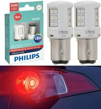 Philips Ultinon LED Light 2357 Red Two Bulbs Front Turn Signal Upgrade Show Lamp