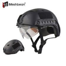 Military Tactical Gear Airsoft Paintball SWAT Protective Helmet w/ Goggle Black