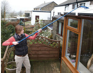 3.4 Metre Extendable Window Washer And Squeegee Cleaning Home Adjustable