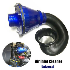 76MM Universal Air Power Intake Bellow Filter Car High Flow Cold  Inlet Cleaner