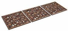Rubber Stepping Stones Mulch Pavers for Garden Walkway Landscaping Set of 3
