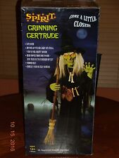 SPIRIT HALLOWEEN Life Size GRINNING GERTRUDE Witch Animated Prop Figure