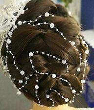 """Accessoire mariage: fil bijou cheveux """"cascade de perles"""", idéal coiffure mariée"""