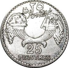 O1638 Colonies Françaises Liban Lebanon 25 Piastres 1929 AU >F offre