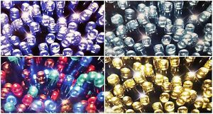 20/50/100/200 LED Battery Operate Fairy String Lights Wire Party Xmas UK