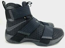 Nike Lebron Soldier X 10 Basketball Shoes Triple Black Mens 844374-001 Size 10M
