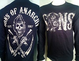FALL '13 AUTHENTIC SONS OF ANARCHY REDWOOD ORIGINAL SOA LONG SLEEVE SHIRT S-3XL