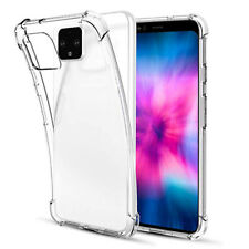 For Google Pixel 4A Clear Silicone TPU Shockproof Crystal Case Cover Protector
