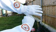 Beekeeper Bee Gloves Beekeeping gloves Goat skin Leather & 100% Cotton MEDIUM