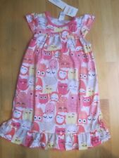 Girl GYMBOREE MULTICOLOR OWLS PAJAMAS PJS NIGHT GOWN SLEEPWEAR NWT XS 4