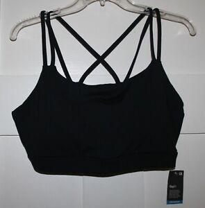 GAPFIT Breathe Women's Black Strappy Sports Bra Size XL
