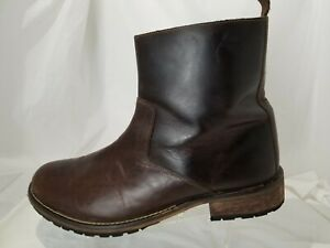 Red Tape Salisbury Brown Leather Side Zip Ankle Boots Men's Size 13