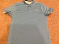 mens nike golf large light blue polo shirt