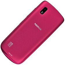 Nokia ASHA 300 COVER POSTERIORE ORIGINALE ROSA Batteria Cover Batteria Coperchio scomparto COPERCHIO
