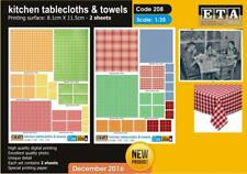 1/35 scale kitchen tablecloths & towels WWII & MODERN