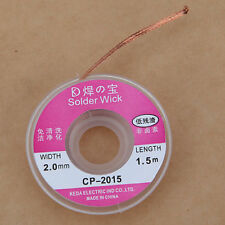 2.0 mm Desoldering Braid Solder Remover Pure Copper Wick - Low Residue UK