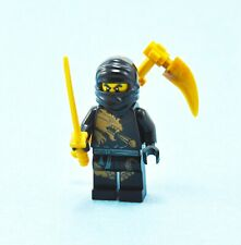 LEGO NINJAGO Black Ninja Cole DX Dragon eXtreme Suit Pearl Gold Sword Sickle