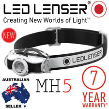 NEW MODEL Genuine Led Lenser Black MH5 Rechargeable Headlamp Authorised Seller