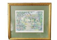 Arthur byrne painting summer garden 3 artist proof framed and signed