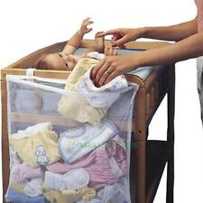 Baby Nursery Dirty Clothes Bag Cot Bed Diaper Large Hanging Multi Storage Bag