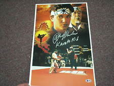 RALPH MACCHIO Signed 11x17 POSTER THE KARATE KID Autograph BECKETT BAS COA B