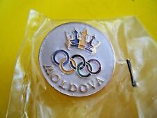 Moldova Olympic 1996 Pin Atlanta Georgia USA Rings Republic of, New in Package