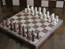 BRAND New ♞ mano hecha a mano de madera juego de ajedrez magnético ♚