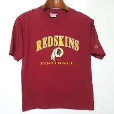Vintage WASHINGTON REDSKINS Champion Brand C Logo Patch T-shirt NFL Football L