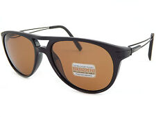 SERENGETI Polarized Photochromic Udine 7758 FLEX Sunglasses Shiny Black / Driver