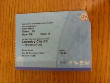 09/11/2004 Ticket: Coventry City v Worcester City [FA Cup] (corner trimmed, ligh