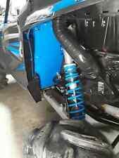 blue Polaris rzr 1000xp rear floor guards turbo xpt tank harness skidplate