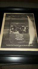 Paul McCartney Wings Over America Rare Original Promo Poster Ad Framed!