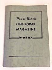 Vintage 1960s How To Use Cine Kodak Mini Magazine 16 16A Camera Booklet Pictures